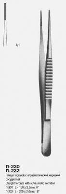 П-230 Пинцет сосудистый с атравматической нарезкой 150 х 2,0