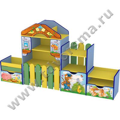 М-623 Стенка детская «Веселая ферма» (с рисунком)