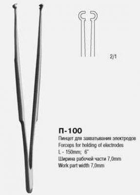 П-100 Пинцет для захватывания электродов ПС 150х7