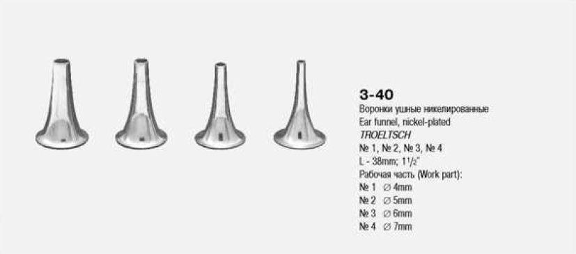 З-40-1 Воронка ушная никелированная № 1