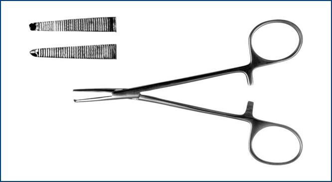 З-117 Зажим к/о 1х2 зубый, зубчатый, прямой д/новор., 125 мм