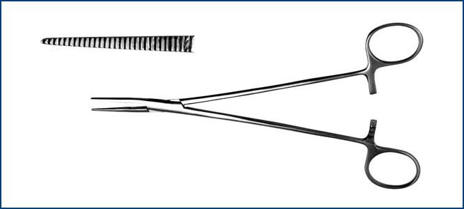 З-13-1 Зажим для желчных протоков прямой, 199 мм