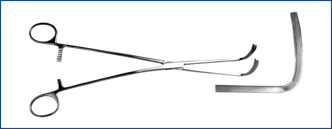 З-7-1 Зажим эластичный для пищевода, изогнутый, 280 мм
