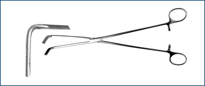 З-7-2 Зажим жесткий для пищевода, изогнутый, 280 мм