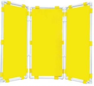 Ширма 3-х секционная (47х96см - каждая секция, цвет: желтый)