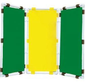 Ширма 3-х секционная (47х96см - каждая секция, цвет: зеленый,желтый, зеленый)