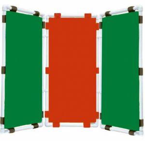 Ширма 3-х секционная (47х96см - каждая секция, цвет: зеленый,красный,зеленый)