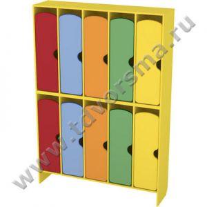М-904-5 Шкаф для одежды двухъярусный 5-секционный